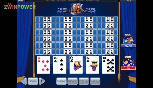 25 lines aces and faces videopoker ot pleytek 15845447512539 image