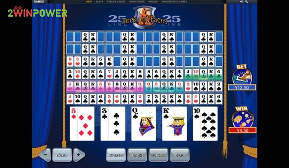25 lines aces and faces videopoker ot pleytek 15845447514729 image