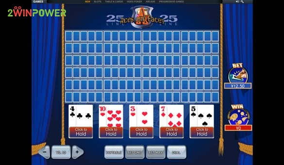 25 lines aces and faces videopoker ot pleytek 15845447520637 image