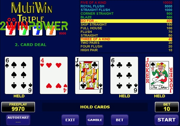 amatic multi card win triple 15101463091598 image