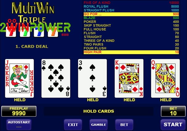 amatic multi card win triple 15101463095025 image