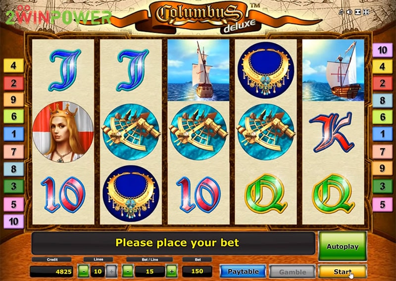 columbus deluxe slot machine by greentube 15299085042623 image