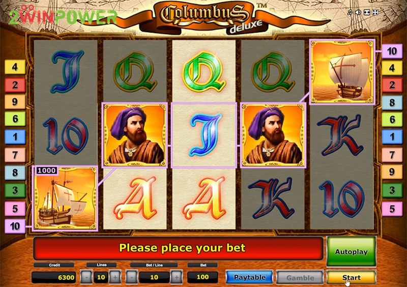 columbus deluxe slot machine by greentube 15299085045801 image