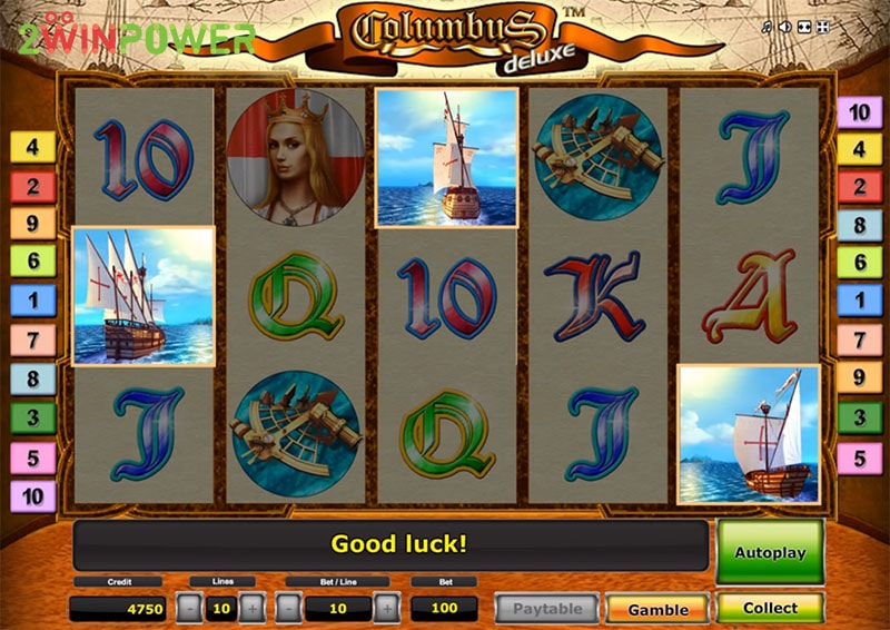 columbus deluxe slot machine by greentube 15299085047341 image