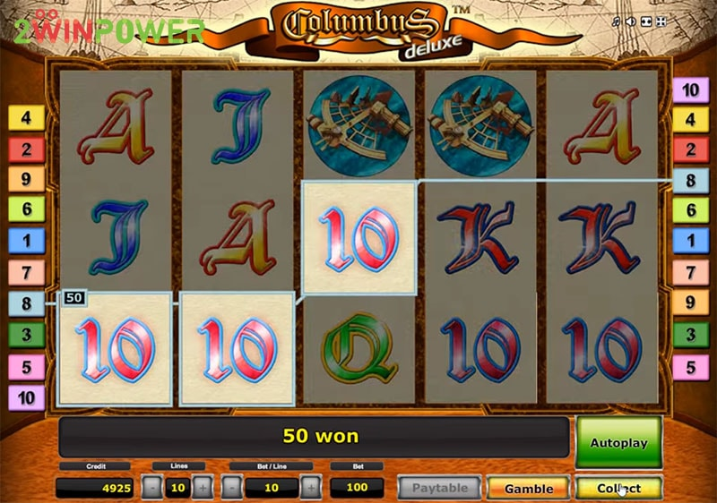 columbus deluxe slot machine by greentube 15299085048877 image