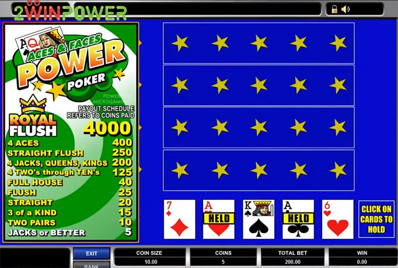 igra aces and faces power poker 15455083150197 image