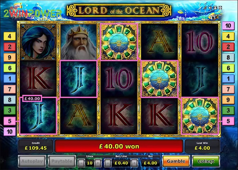 lord of the ocean html5 slot by greentube 15306008643965 image