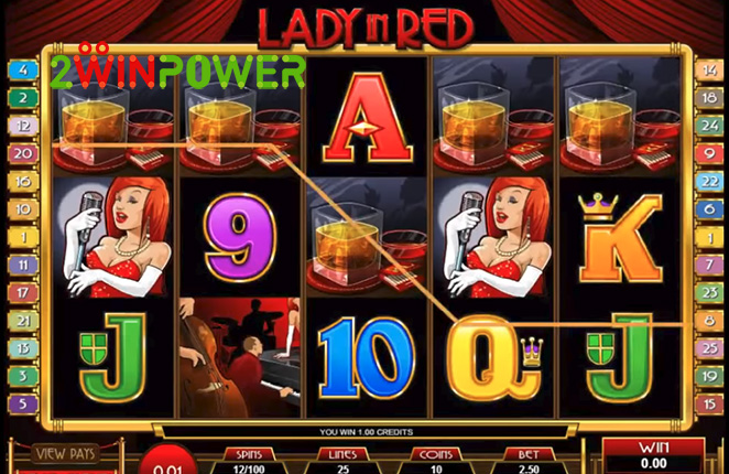 microgaming lady in red 15083237087749 image