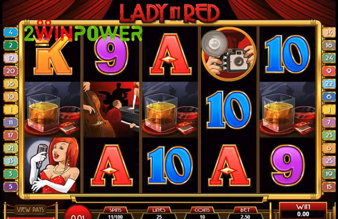 microgaming lady in red 15083237089474 image