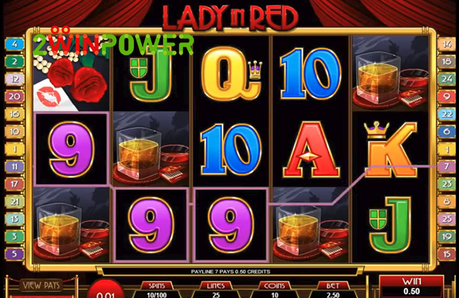 microgaming lady in red 15083237091174 image