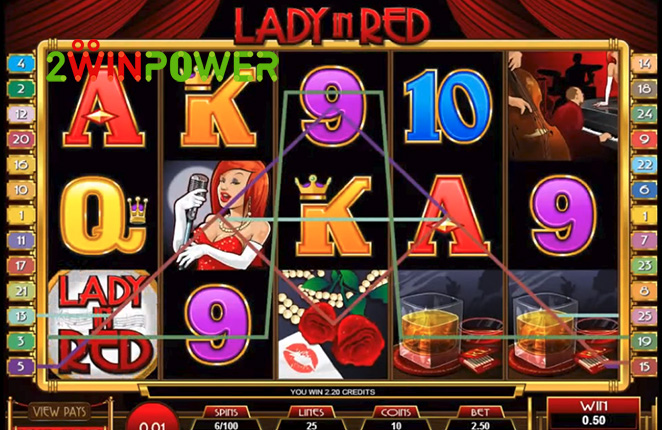 microgaming lady in red 15083237092736 image