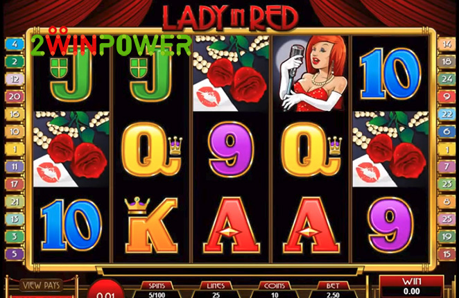 microgaming lady in red 15083237094312 image