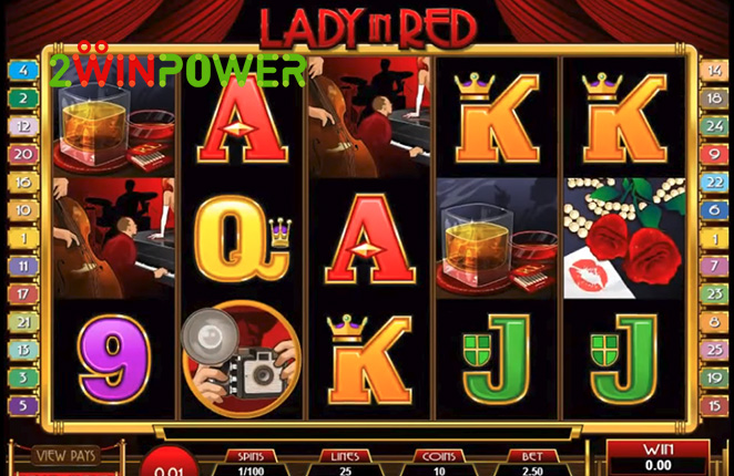 microgaming lady in red 15083237095932 image