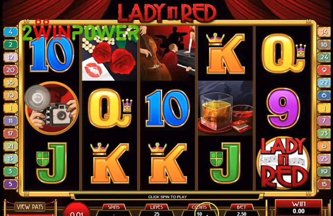 microgaming lady in red 15083237097506 image