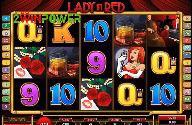 microgaming lady in red 15083237099094 image