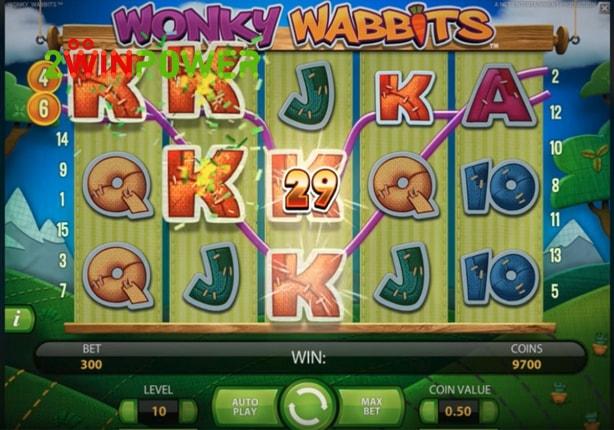 Игровой автомат wonky wabbits netent