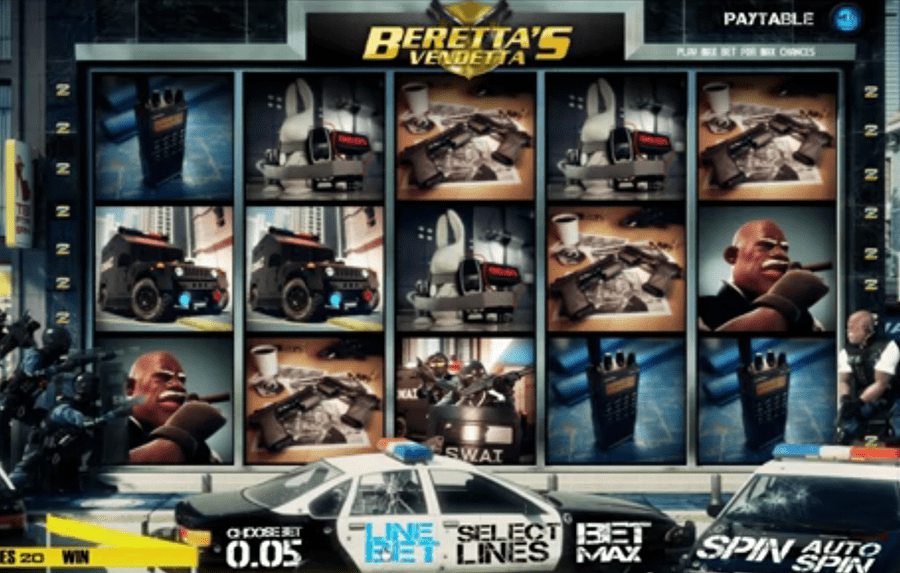 Sheriff Gaming - Beretta′s Vendetta slots replica