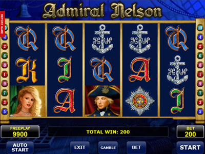Admiral Nelson: Amatic game clone