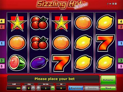 Sizzling Hot Deluxe slot replica