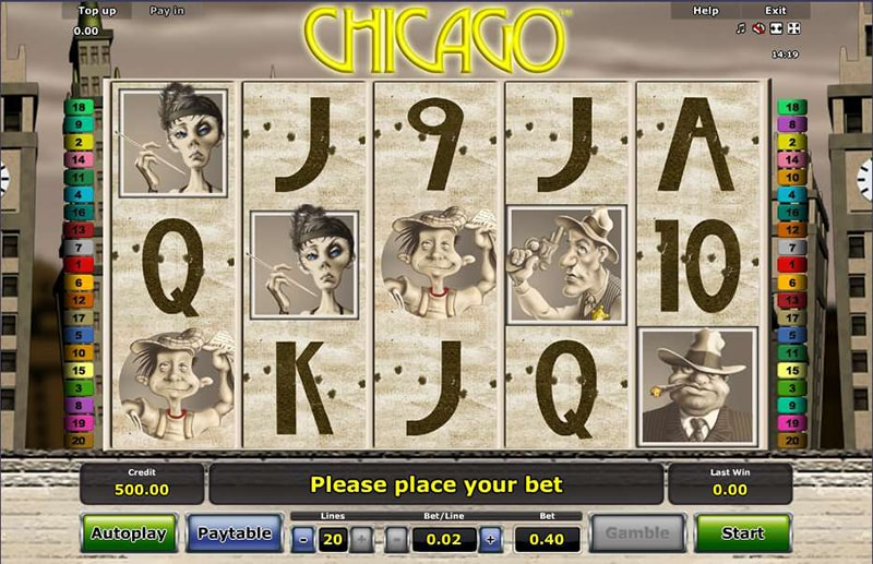 Chicago casino game from Novomatic