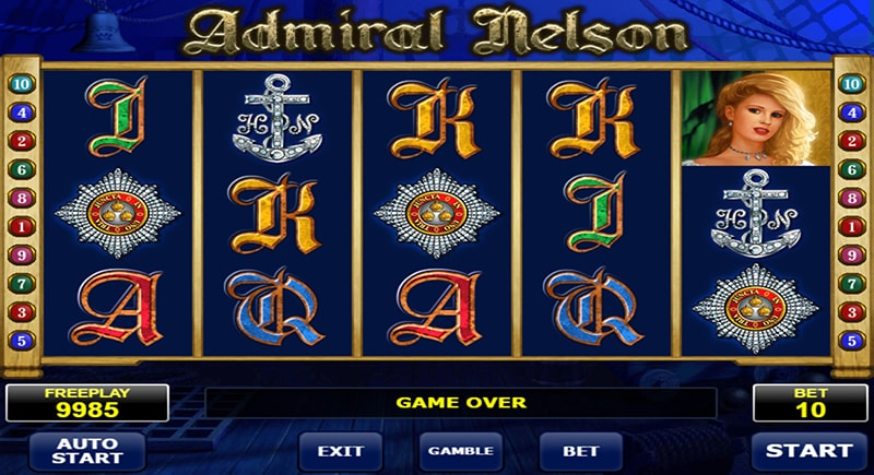 Admiral Nelson slot developed by Amatic