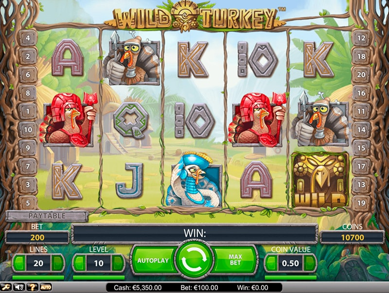 The online slot Wild Turkey by NetEnt