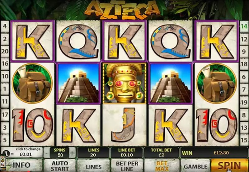 Azteca slot machine by Playtech