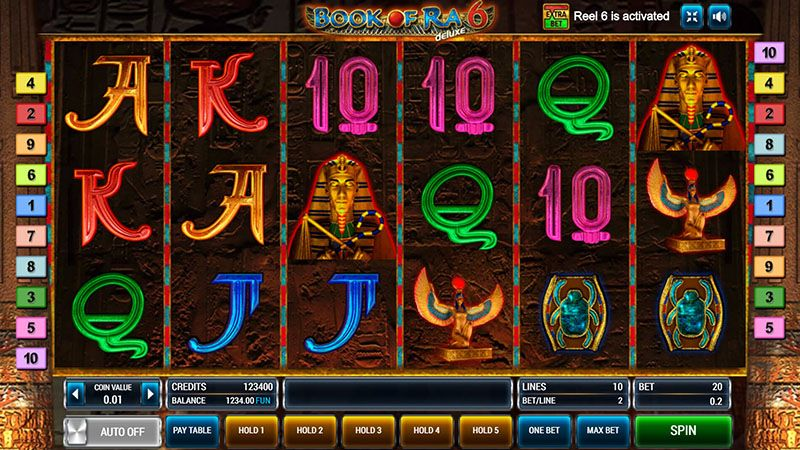 Book of Ra 6 casino game by Novomatic: main features
