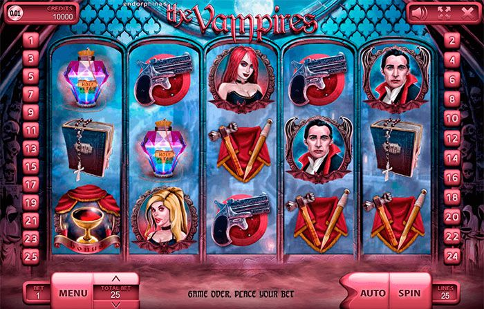 The Vampires slot machine by Endorphina