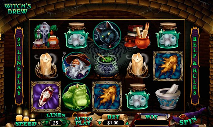 Witch's Brew casino game by RTG