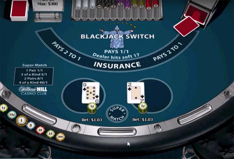 Casinos offering blackjack switch