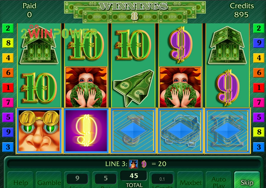 AlpsGames slot machine - The Big Money Scent