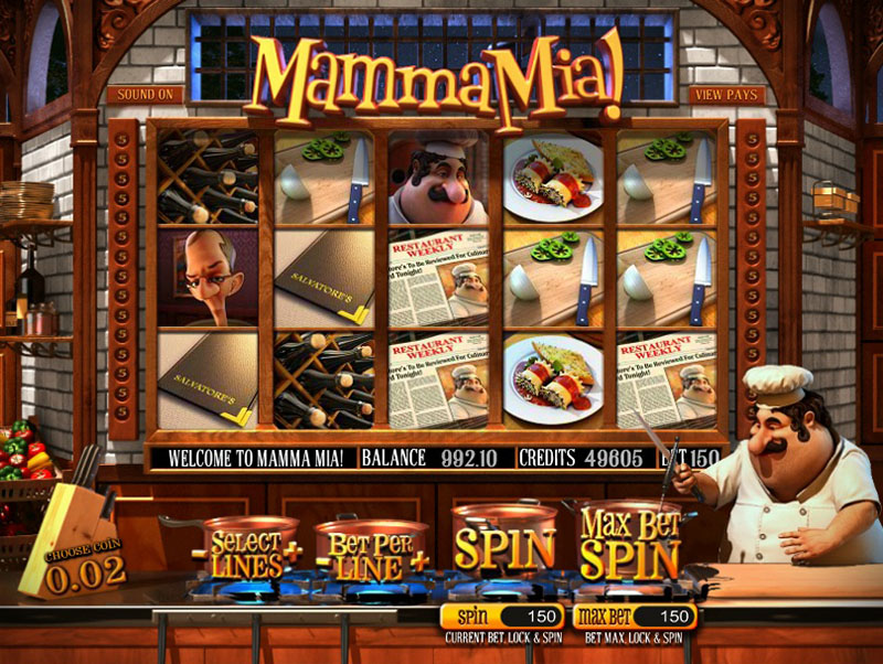 Mamma Mia! videoslot from Betsoft Gaming