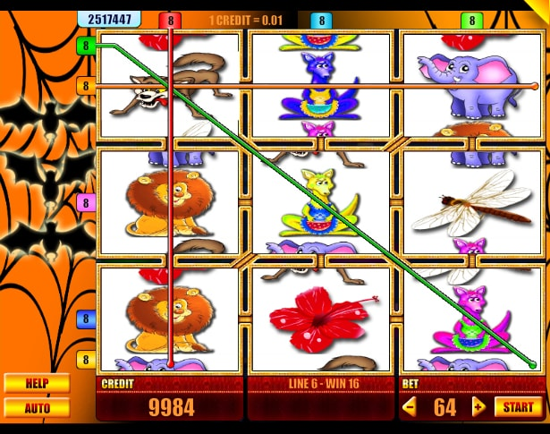 Nixterida video slot from Spin Fun