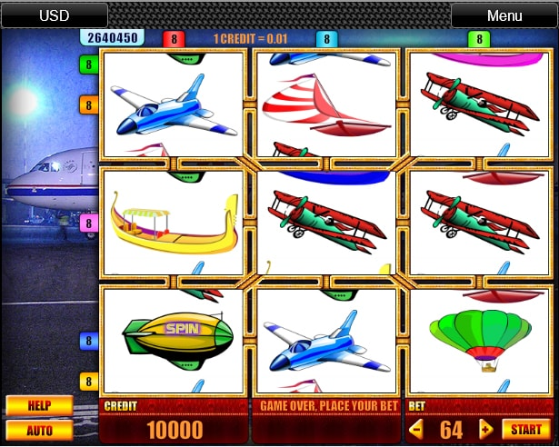 Aero slot machine from Spin Fun