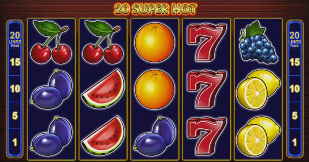slot machine EGT - 20 Super Hot