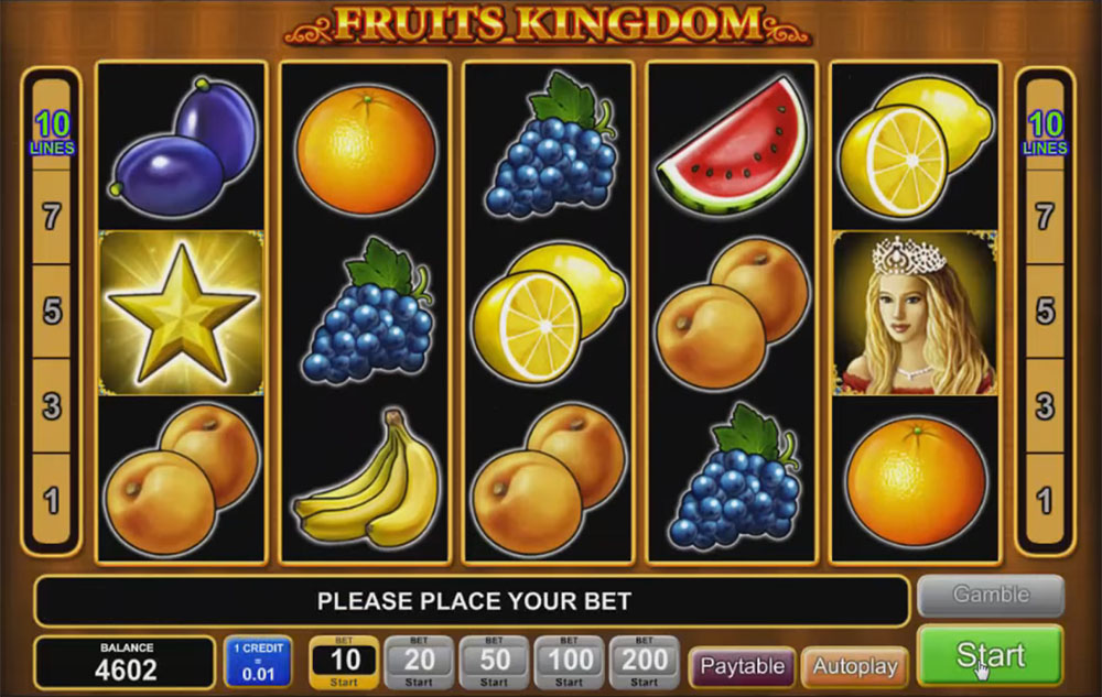 slot machine EGT - Fruits Kingdom