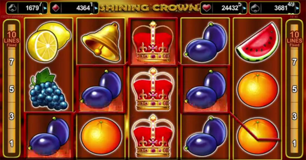 slot machine EGT - Shining Crown