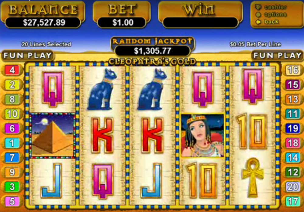 slot machine RealTime Gaming - Cleopatra's Gold