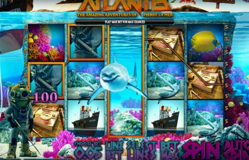 slot machine Sheriff Gaming - Atlantis, image